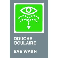Bilingual CSA Signs - Douche Oculaire Eye Wash