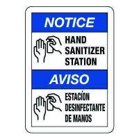 Bilingual Hand Sanitizer Station Sign