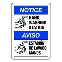 Bilingual Hand Washing Station Sign