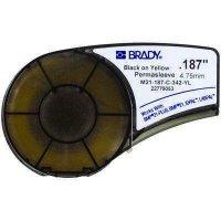 Brady M21-187-C-342-YL BMP21 PLUS Label Cartridge - Black on Yellow