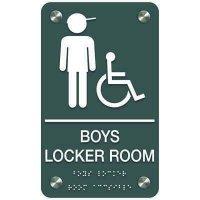 Boys' Locker Room (Accessibility) - Premium ADA Facility Signs