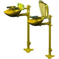Bradley Halo® Pedestal-Mount Eye/Face Wash Station