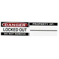 Brady Durable Vinyl Lockout Labels for Aluminum Safety Padlocks - Write-on Surface (50289) - 6PK