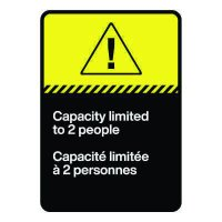 Bilingual CSA Sign - Capacity Limited to Two People