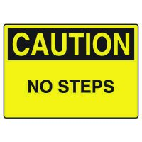 Fall Hazard Signs - Caution No Steps