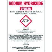 Chemical GHS Labels - Sodium Hydroxide