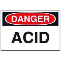 Chemical Labels - Acid