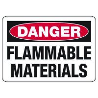 Danger Signs - Flammable Materials