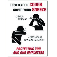 Cover Your Cough Cover Your Sneeze Label