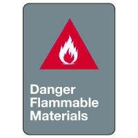 CSA Safety Sign - Danger Flammable Materials