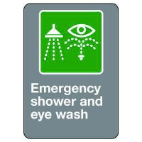 CSA Safety Sign - Emergency Shower And Eye Wash