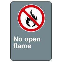 CSA Safety Sign - No Open Flame