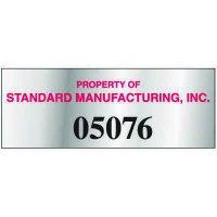 Custom Tamper Evident Identification Tags