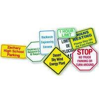 Custom Worded Traffic & Parking Signs