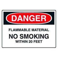 Chemical & Hazardous Material Signs - Danger  Flammable Material