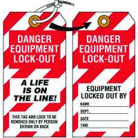 Lockout Tags - Danger Equipment Lock-Out