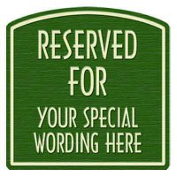 "Reserved For Semi-Custom Designer Dome Sign 16""x16"""