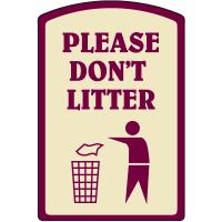 Designer Property Signs - Please Don't Litter