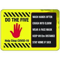 Do the Five COVID-19 Sign