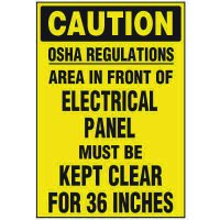 Electrical Safety Labels On-A-Roll - Caution Regulations