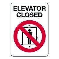 Elevator Closed Sign