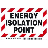 Brady® Energy Isolation Point Labels
