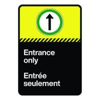 Bilingual CSA Sign - Entrance Only