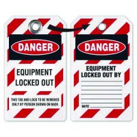 Equipment Locked Out Tag - Heavy Duty Plastic Tag Lockout Tag