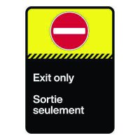 Bilingual CSA Sign - Exit Only