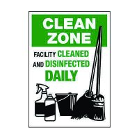 Facility Cleaned & Disinfected Daily Decal