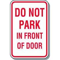 Fire Lane Signs - Do Not Park In Front Of Door
