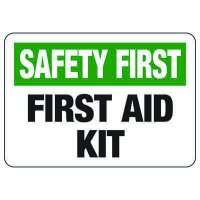 First Aid Signs - Safety First First Aid Kit