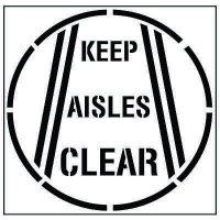 Floor Stencils - Keep Aisles Clear