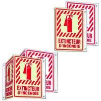 French 2 & 3-Way Fire Extinguisher Signs - Extincteur D'Incendie