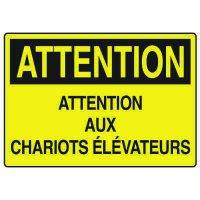 Enseignes de Sécurité - Attention Attention Aux Chariots Élévateurs