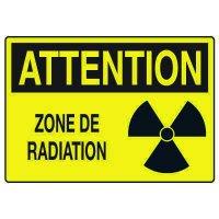 Enseignes de Sécurité - Attention Zone De Radiation