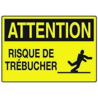 Enseignes de Sécurité - Attention Risque De Trebucher