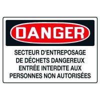 Enseignes de Sécurité - Danger Dechets Dangereux