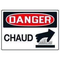 Enseignes de Sécurité - Danger Chaud
