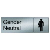 Gender Neutral - Engraved Rest Room Signs