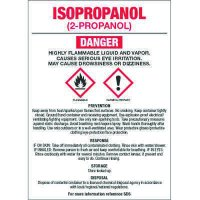 GHS Chemical Labels - Isopropanol