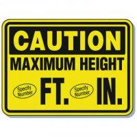 Semi-Custom Giant Clearance & Crane Signs - Maximum Height
