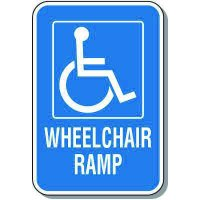 Handicap Signs - Wheelchair Ramp (Symbol of Access)