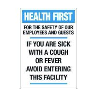 If You Are Sick Avoid Entering Label