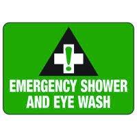 Emergency Shower & Eyewash - First Aid Sign