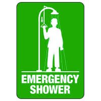 Emergency Shower (Graphic) - Industrial First Aid Sign