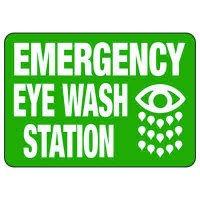 Emergency Shower And Eyewash - Industrial First Aid Signs