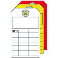 Blank Inspection Tag - White