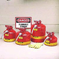 Justrite® Type II Terne Plate Steel Safety Cans