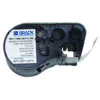 Brady MC1-1000-595-YL-BK BMP51/BMP41 Label Cartridge - Black on Yellow
